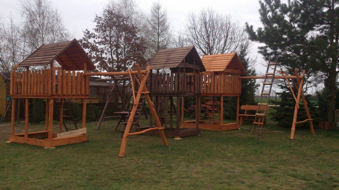 Domki ogrodowe, place zabaw - różne wzory
