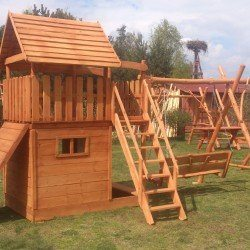 domek ogrodowy dla dzieci - plac zabaw