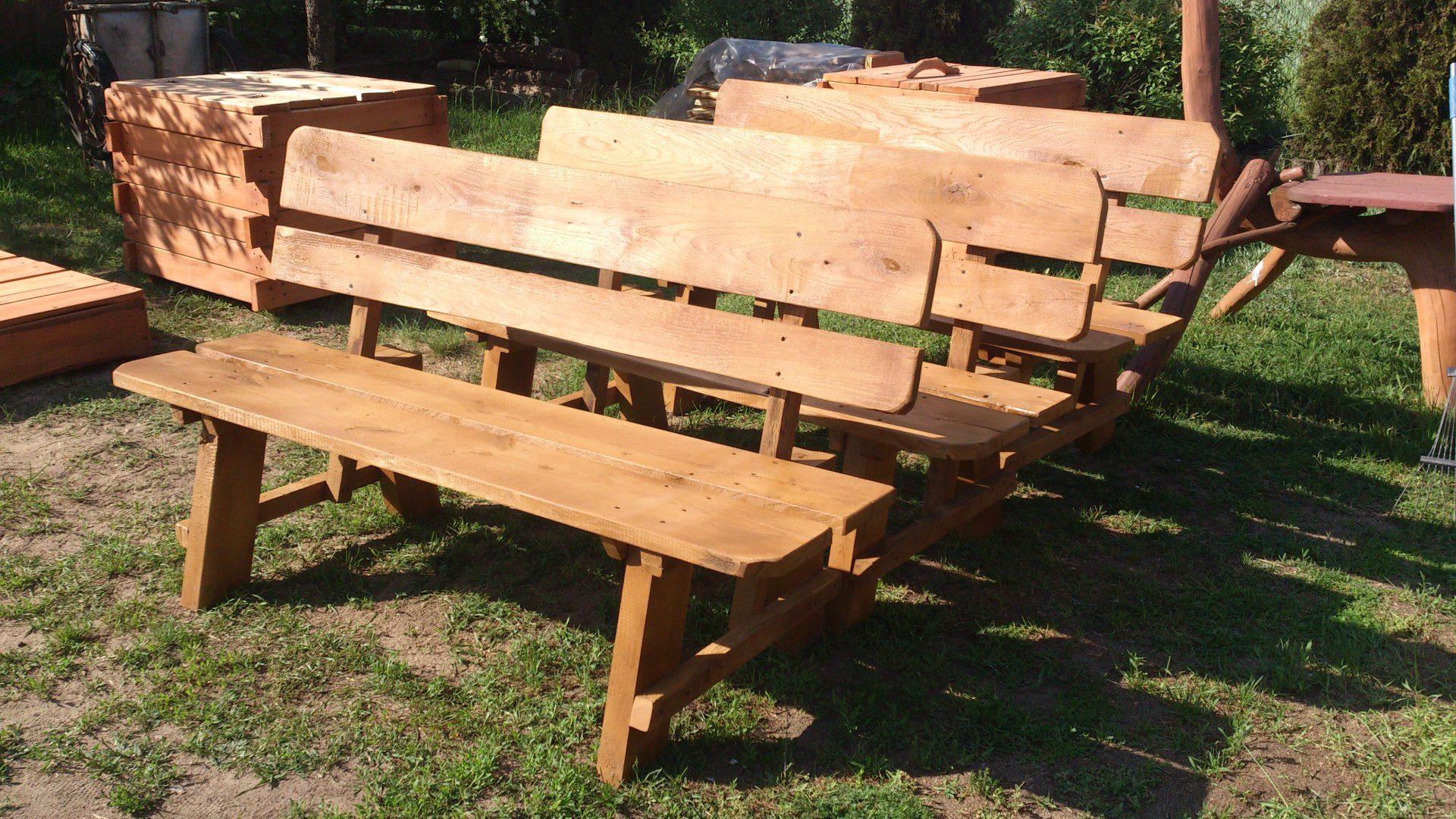 Dębowa ławka na taras