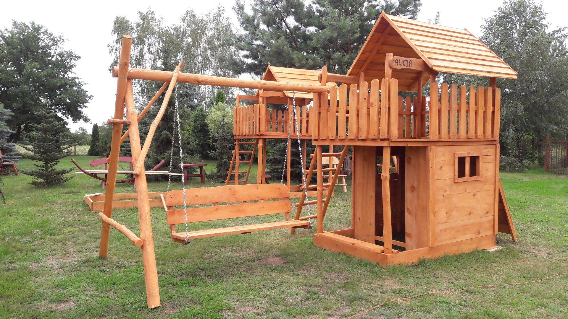 Drewniane domki ogrodowe